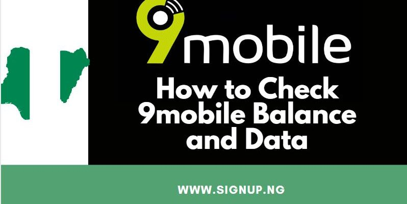 check 9mobile airtime and data