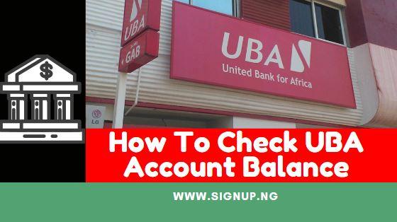 how to check uba account balance